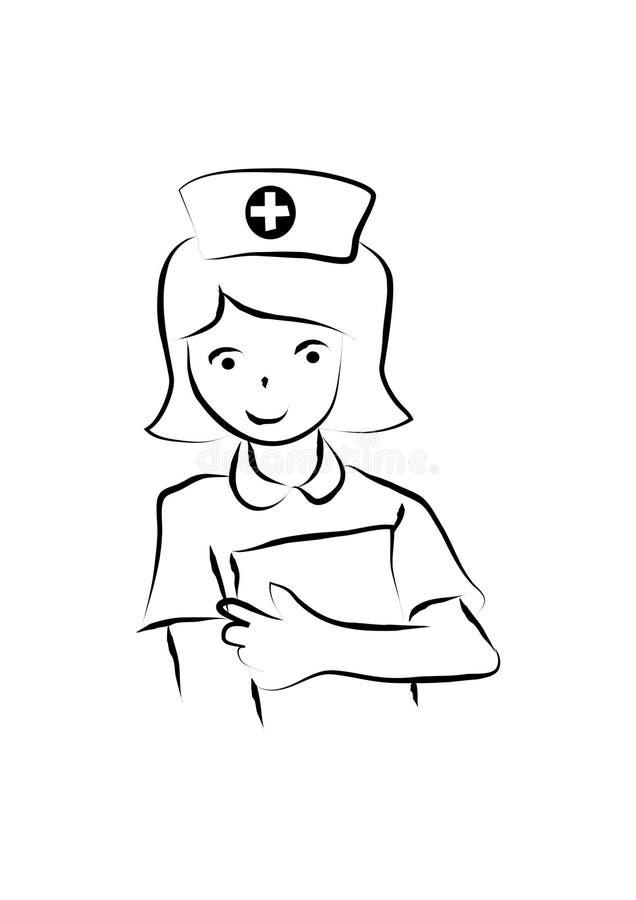 动画片护士 皇族释放例证
