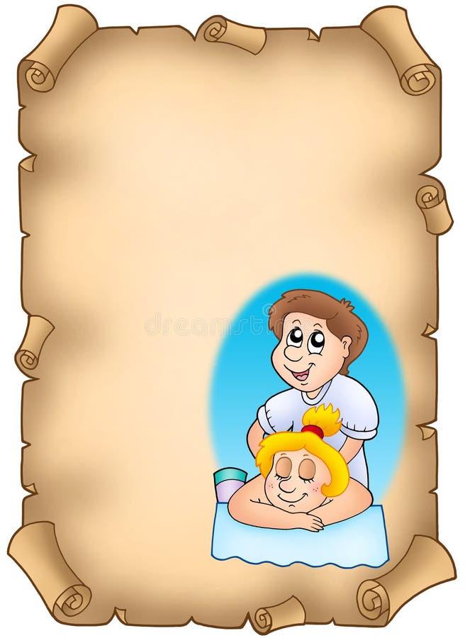 动画片按摩器羊皮纸 皇族释放例证