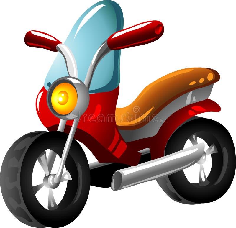 动画片摩托车 向量例证