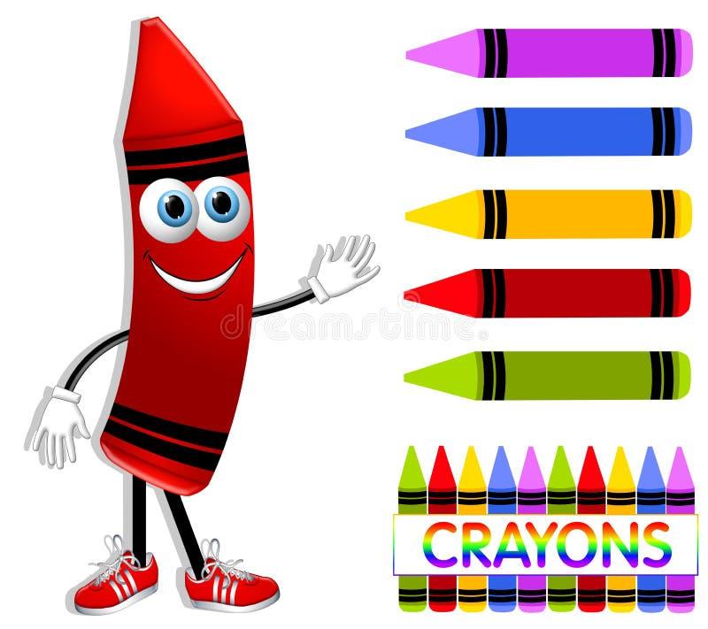 动画片收集蜡笔 向量例证
