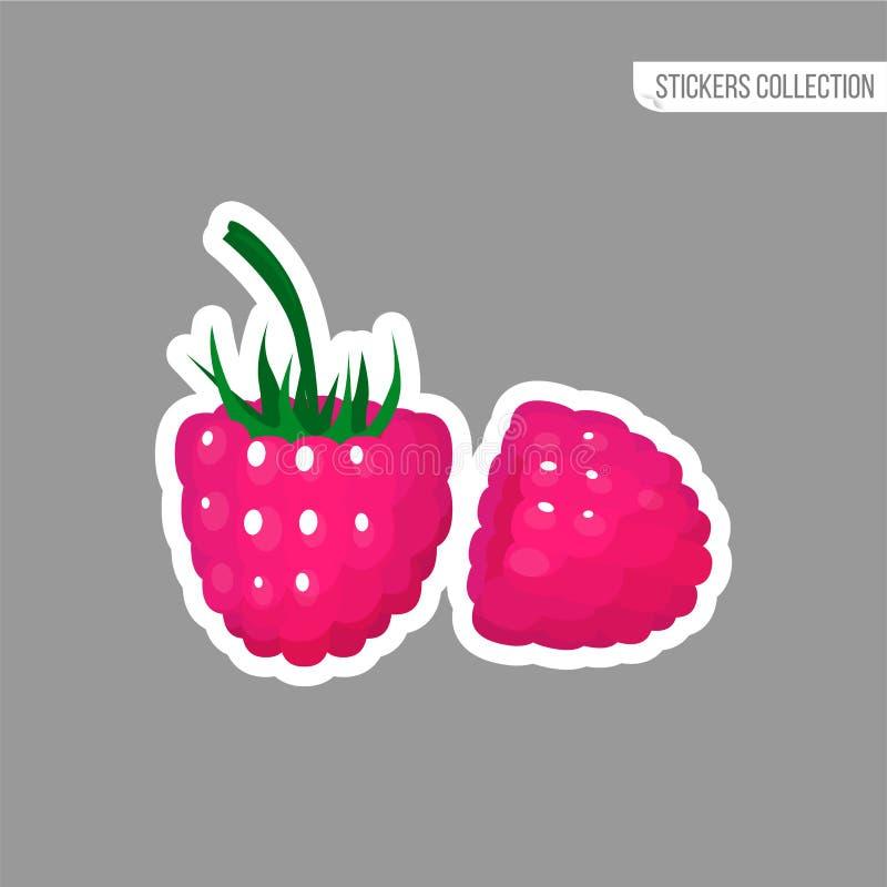 动画片新鲜的莓被隔绝的贴纸 皇族释放例证
