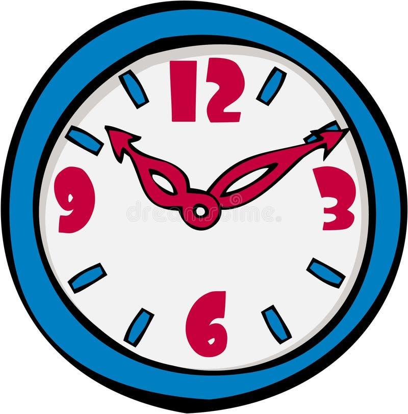 动画片时钟 向量例证