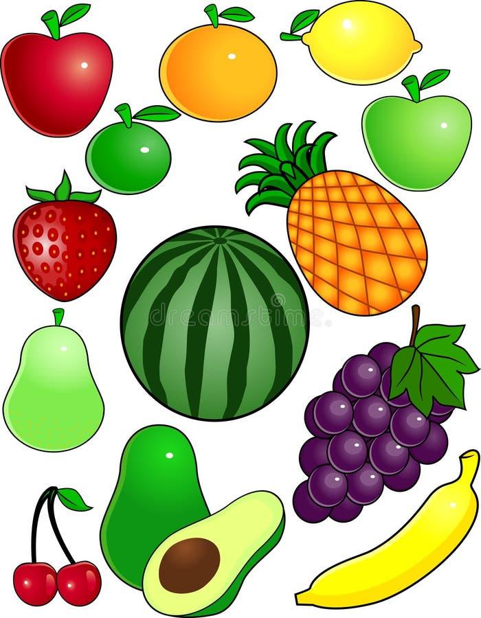 动画片果子 向量例证