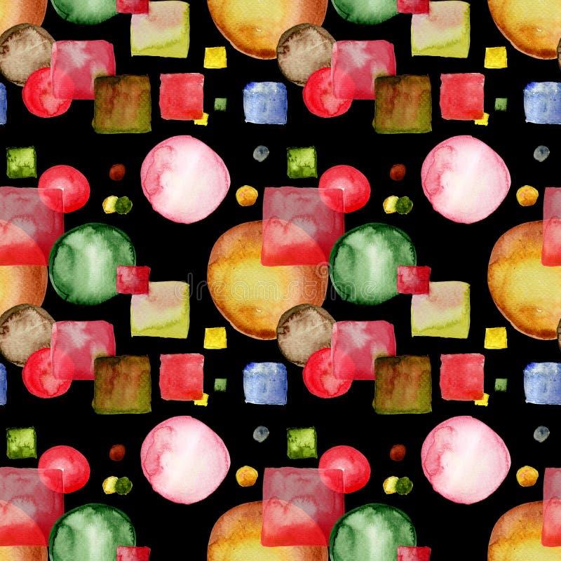 动画片样式无缝的样式 免版税图库摄影