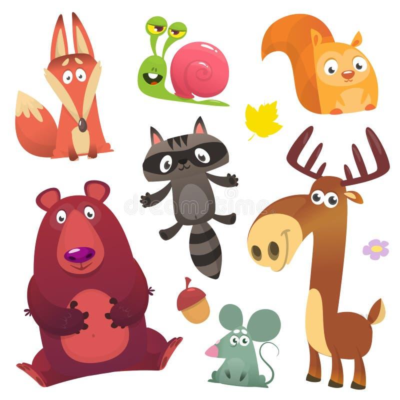 动画片森林动物集合 向量例证