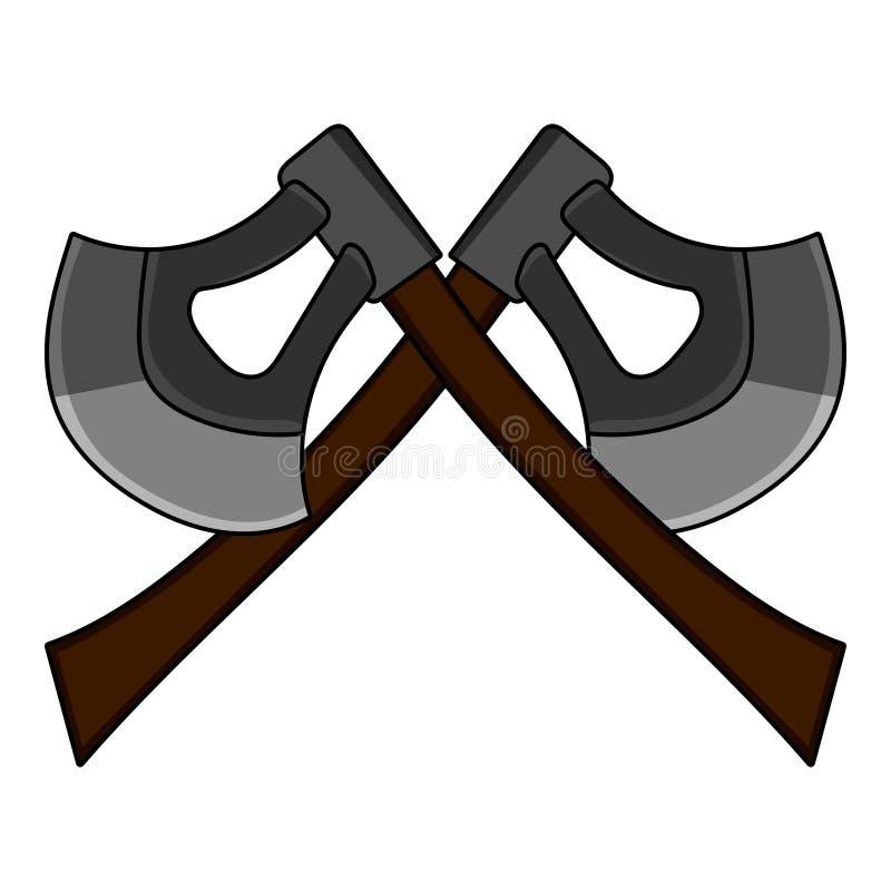 动画片横渡了在白色背景隔绝的轴 电脑游戏设计的武器 中世纪的轴 也corel凹道例证向量 皇族释放例证