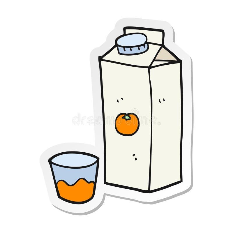 动画片橙汁过去的贴纸 皇族释放例证