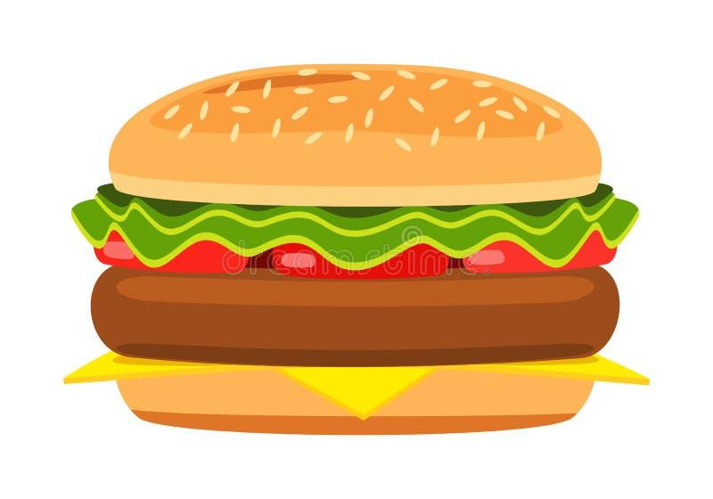 动画片汉堡包 向量例证