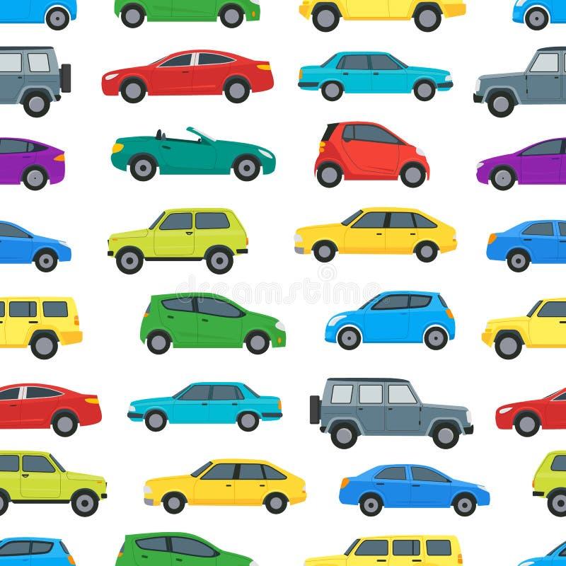 动画片汽车在白色的背景样式 向量 向量例证