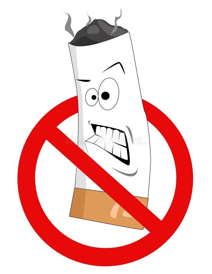 动画片没有符号抽烟 皇族释放例证