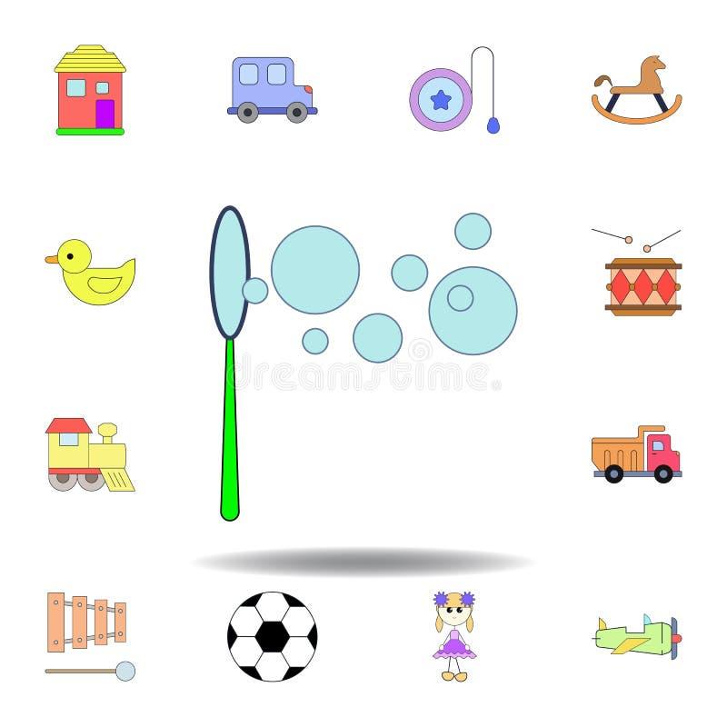 动画片泡沫泡影玩具色的象 设置儿童玩具例证象 标志,标志可以为网,商标,机动性使用 库存例证