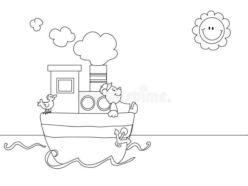 动画片海景 向量例证