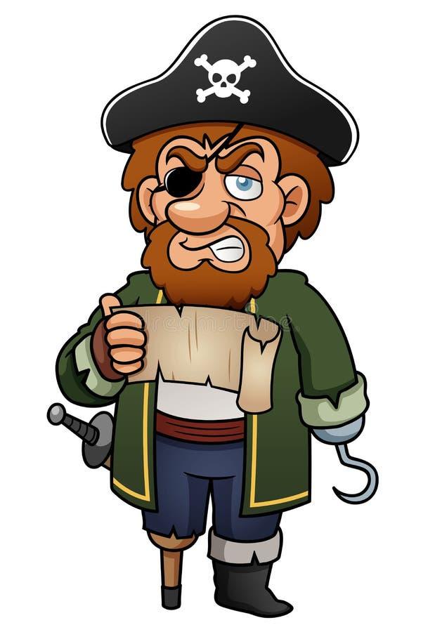 动画片海盗 库存例证