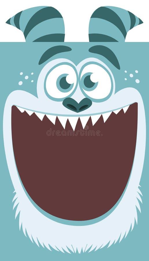 动画片滑稽的妖怪微笑 传染媒介万圣夜蓝色凉快的妖怪 大套妖怪面孔 设计耳朵面粉例证标签通心面程序包意大利面食意粉向量麦子 皇族释放例证