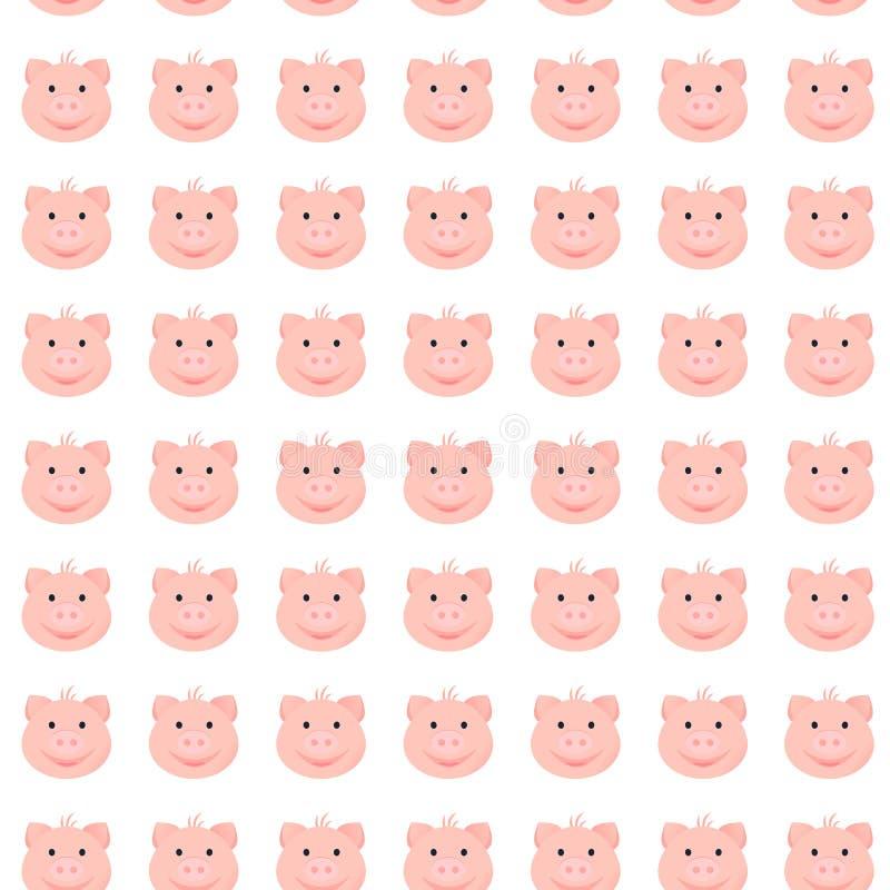 动画片滑稽的猪样式 皇族释放例证