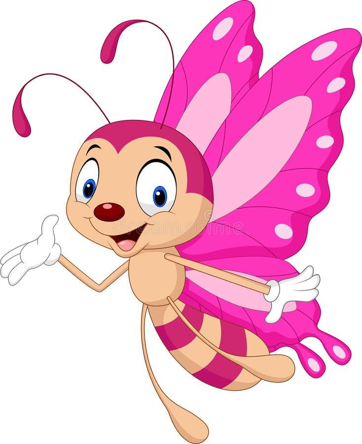 动画片滑稽的蝴蝶 向量例证