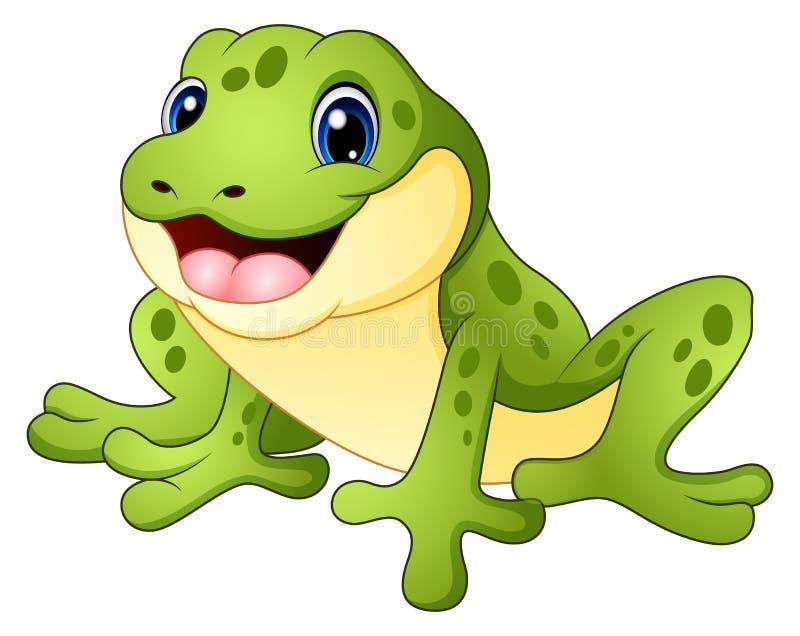 动画片滑稽的青蛙 向量例证