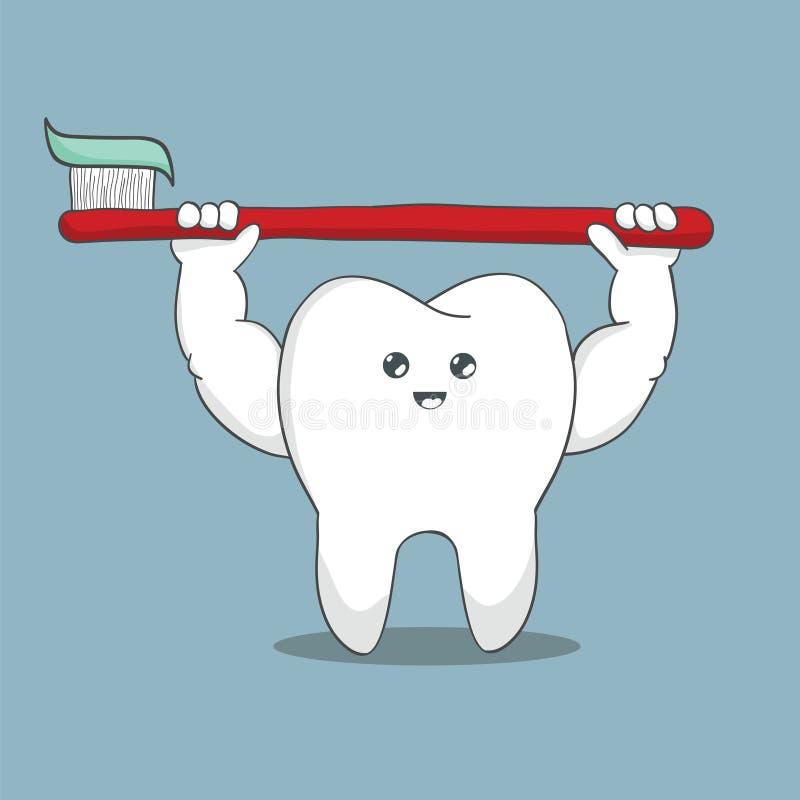 动画片牙牙刷 向量例证