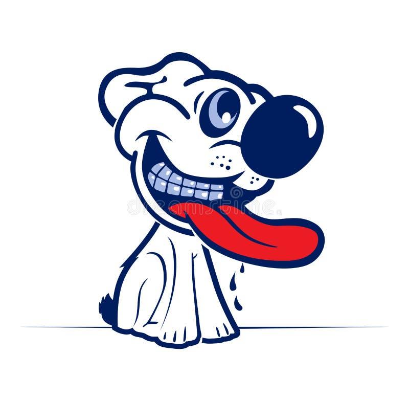 动画片狗表面微笑 库存例证