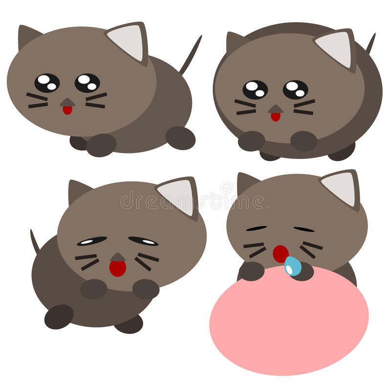 动画片猫例证 库存例证