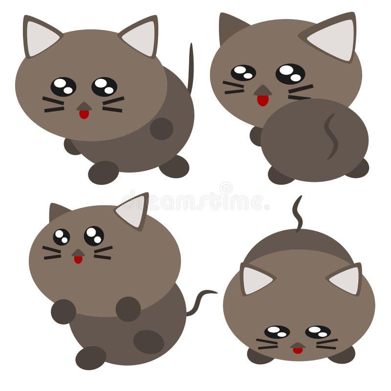 动画片猫例证 皇族释放例证