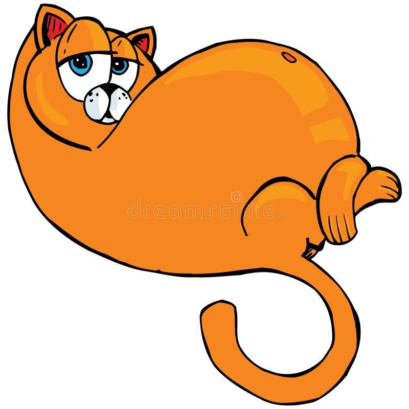 动画片猫肥胖桔子 库存例证