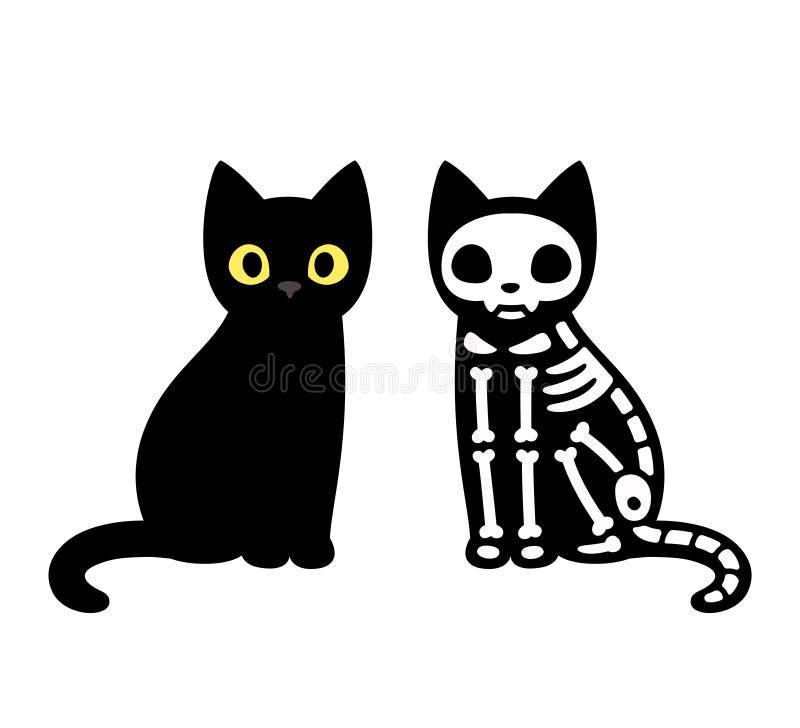 动画片猫骨骼 向量例证