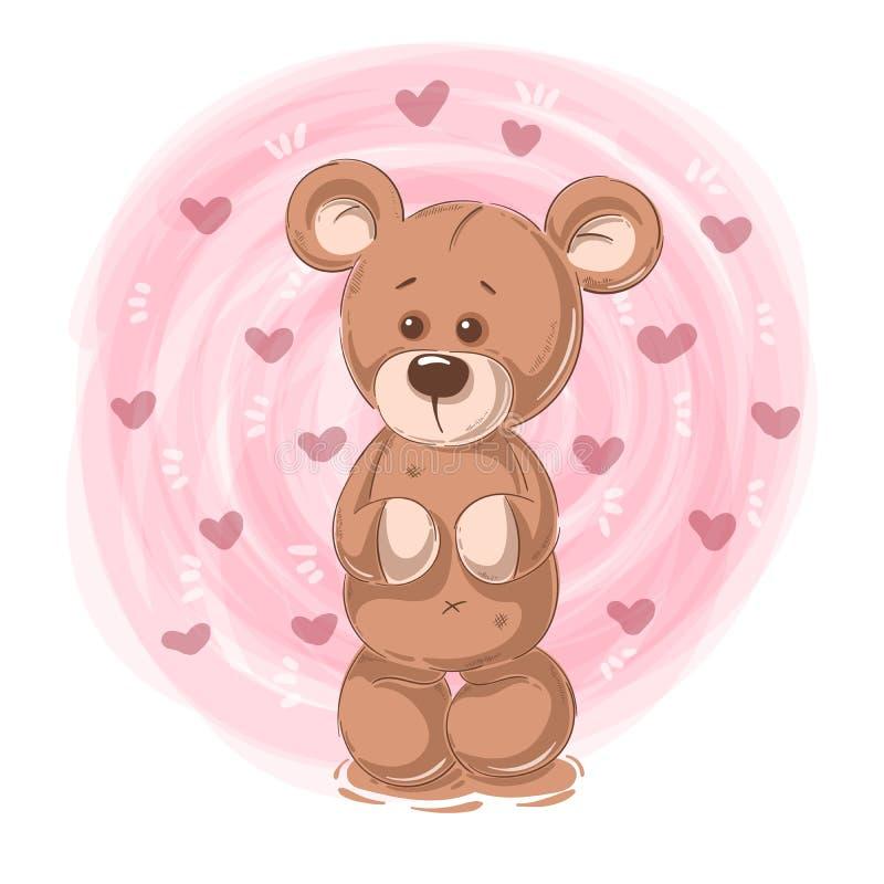 动画片玩具熊-滑稽的字符 皇族释放例证