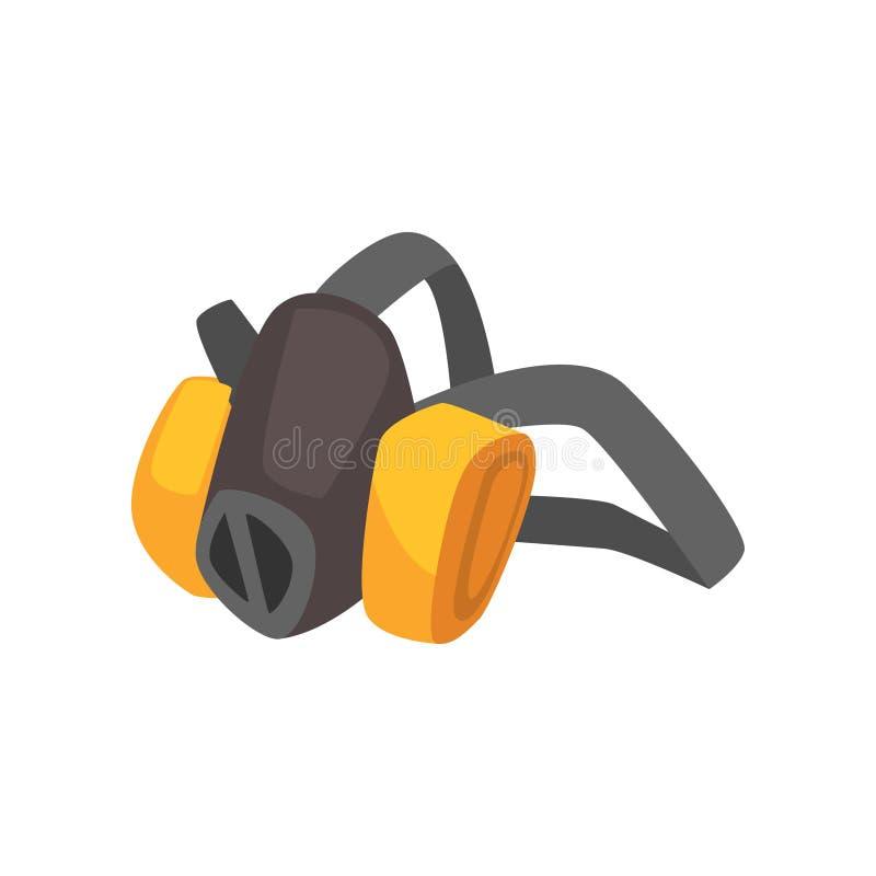 动画片矿工` s防护防尘面具 库存例证