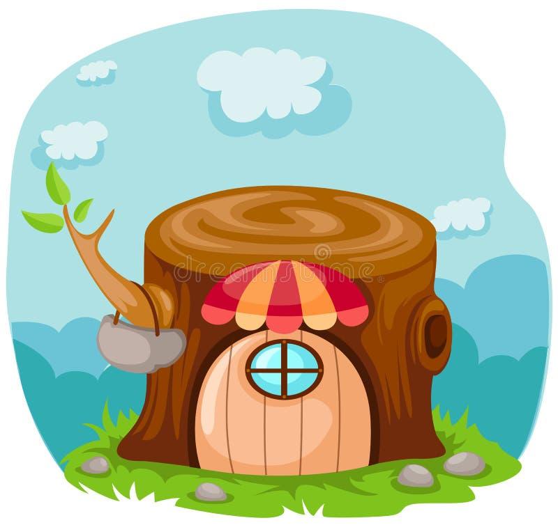 动画片神仙的房子传说 向量例证