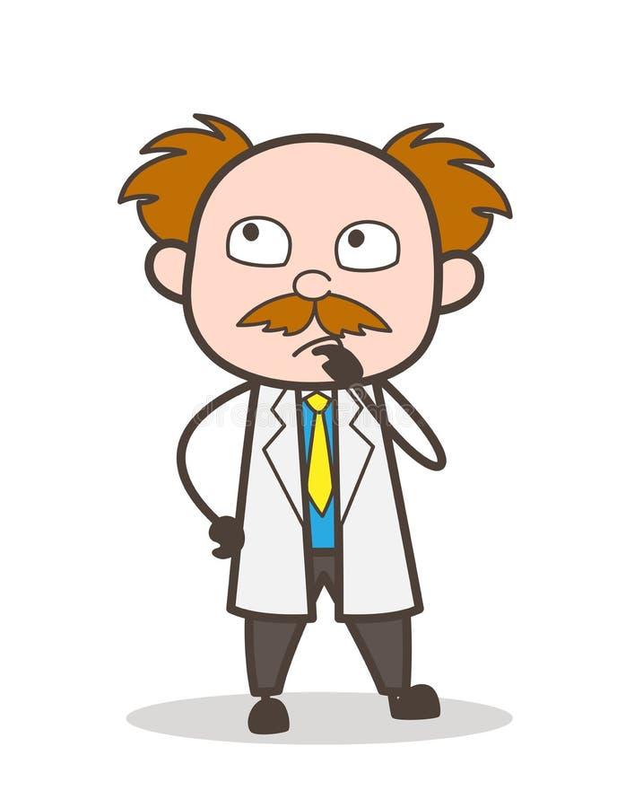 动画片科学家想法的表示传染媒介例证 库存例证