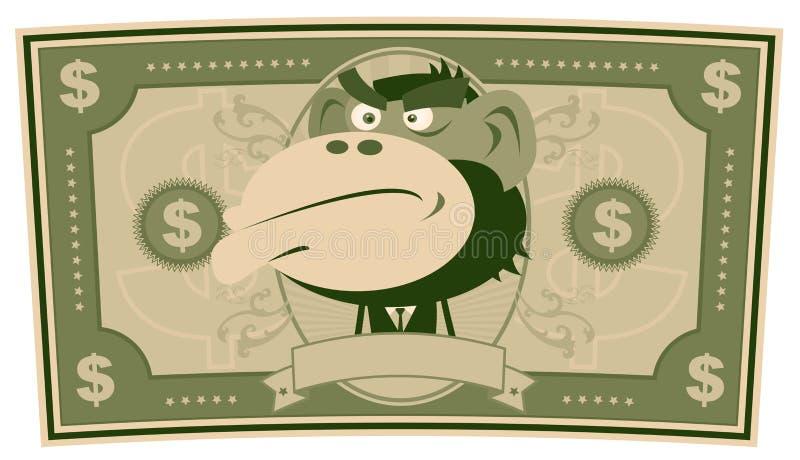 动画片美元代币券我们 库存例证