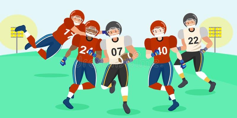 动画片美国橄榄球运动员 库存例证
