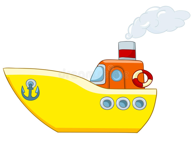 动画片船 向量例证