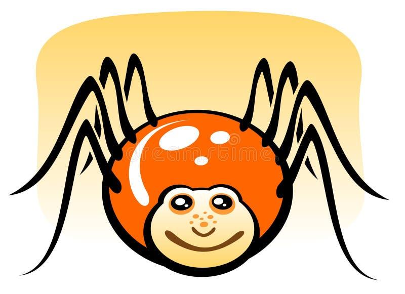 动画片蜘蛛 向量例证