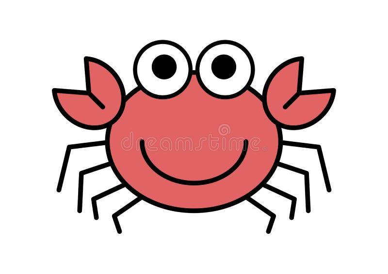 动画片螃蟹 向量例证