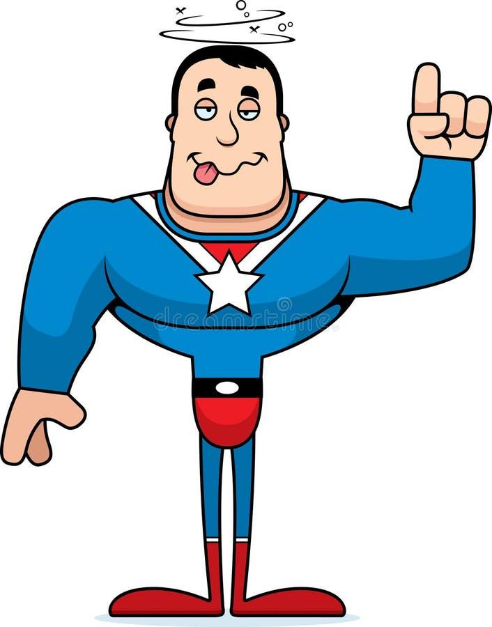 动画片被喝的超级英雄 向量例证