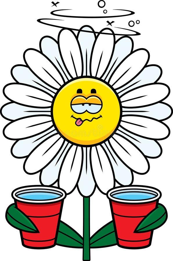 动画片被喝的雏菊 向量例证