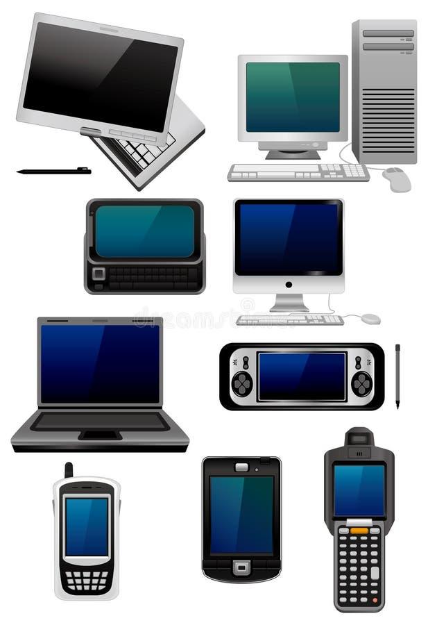 动画片计算机图标 向量例证