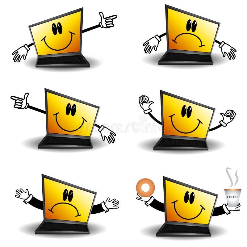 动画片计算机膝上型计算机 皇族释放例证