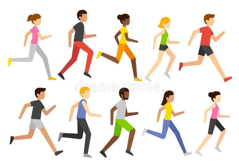 动画片赛跑者字符 向量例证