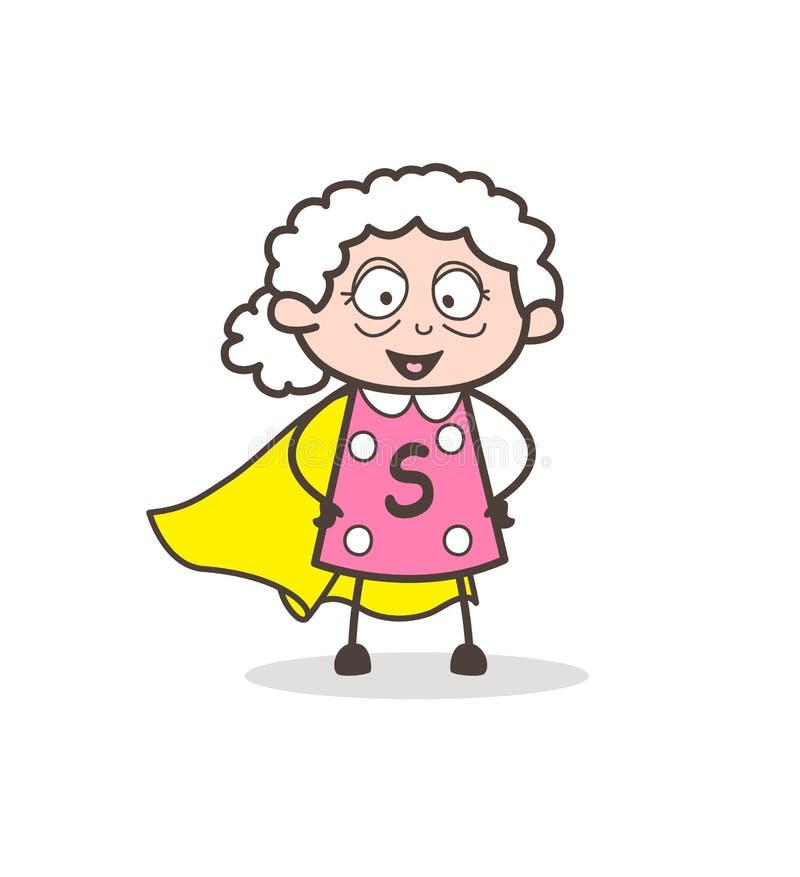 动画片超级祖母字符传染媒介例证 向量例证