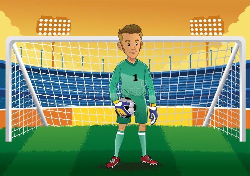 动画片足球守门员 向量例证