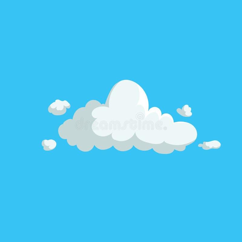 动画片逗人喜爱的云彩时髦设计象 天气或天空背景的传染媒介例证 库存例证
