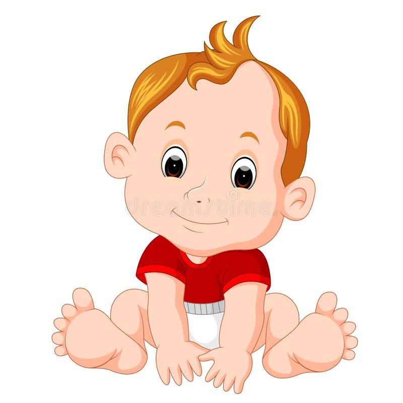 动画片逗人喜爱的婴孩 库存例证