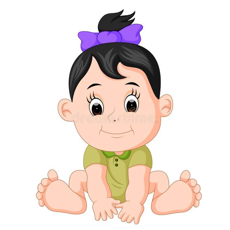 动画片逗人喜爱的婴孩 向量例证