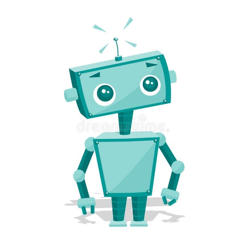 动画片逗人喜爱的机器人 库存例证