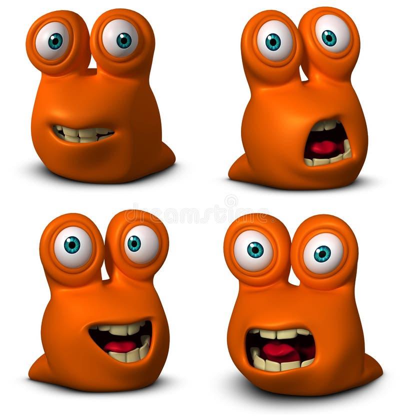 动画片逗人喜爱的蠕虫 皇族释放例证