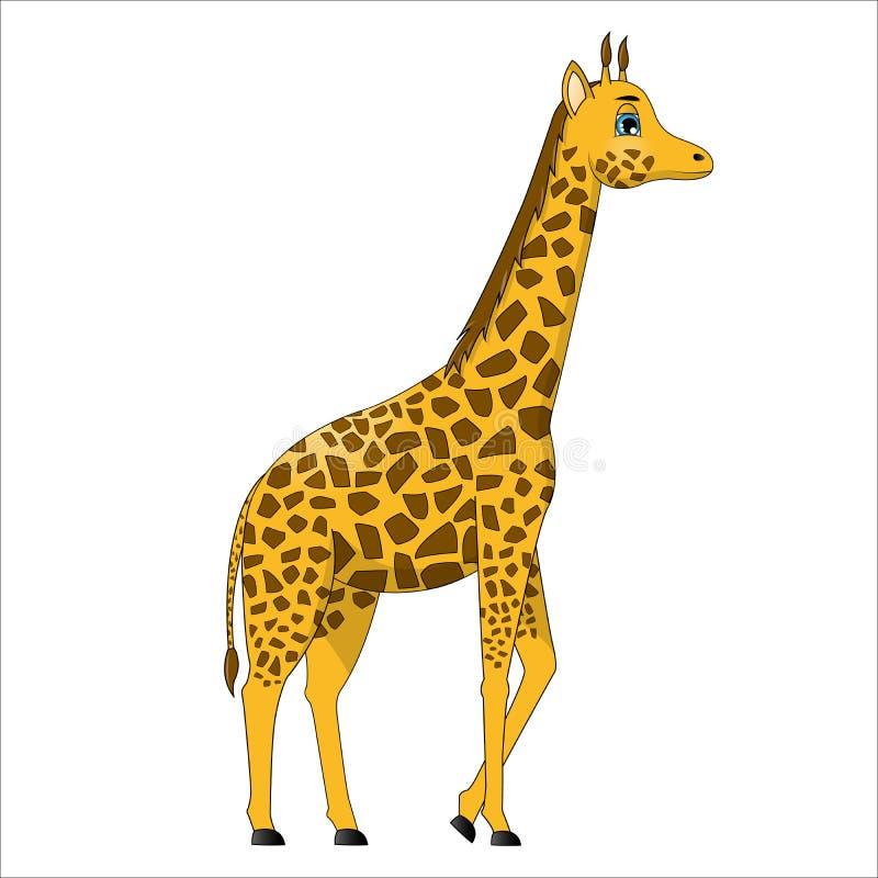 动画片逗人喜爱的长颈鹿 皇族释放例证
