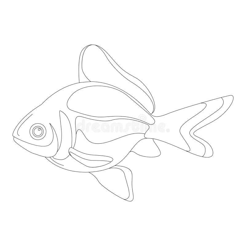 动画片金鱼,传染媒介例证,排行凹道 库存例证